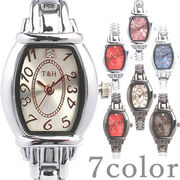 日本製ムーブメント 1粒ストーンが輝く小さめ可愛い トノー型ブレスレットウォッチ AV020 レディース腕時計