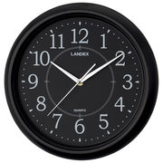 シンプル掛時計 ブラック