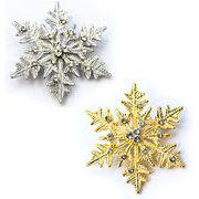 クリスマス商材☆キラキラブローチ☆雪の結晶