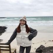 冬服 新しいデザイン 韓国風 大型ポケット ベスト ベスト アウターウェア 女 ルース