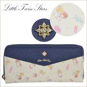 Little Twin Stars キキララ パステル かわいい財布 長財布 ラウンド 束入れ(KL-7-11)46100