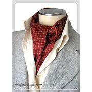 エレガント袋縫い幾何学柄メンズ用100%シルクスカーフ 10115a