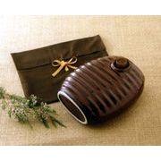 レトロ陶製湯たんぽ湯たんぽ袋付き陶器製だから朝まであったか。省エネ・エコ。電磁波心配無