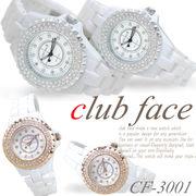 【選べるケース有or無】 ラインストーン 腕時計 レディース メンズ 軽量 ファッションウォッチ◇CF-3001