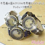 【Plaisir プレジール】トランプ&ウサギ レディース ウォッチ 腕時計