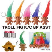 【アメ雑 アメリカ雑貨】トロールフィグK C 8PASST キーホルダー トロル 人形 アメキャラ 妖精