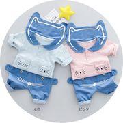 春新品 肌に優しい棉100%ベビー子供服上下セット
