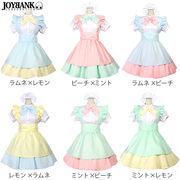 《大きいサイズ》スウィートフェアリー メイド服セット【ペールトーン/コスプレ】《在庫一掃セール》