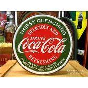 アメリカンブリキ看板 コカ・コーラ 渇きを潤す