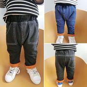 赤ちゃん 冬服 パンツ 児童 ズボン 新しいデザイン 男児 裏起毛 ニッティング ジーン