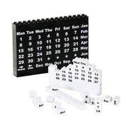 白黒ブロックカレンダー