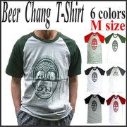 【即納OK】 ★Chang BeerラグランTシャツ6色◆★ラグランTシャツ・Mサイズ(Chang Beer)★