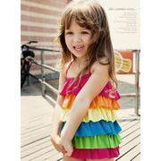 【激安】子供水着 キッズ 虹色 水着 女の子 ワンピース ビーチ用品 温泉