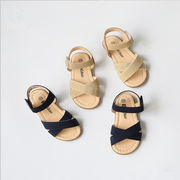 【自社工場】子供サンダル  キッズ 靴 138-187mm 女の子 ぺたんこ 夏物