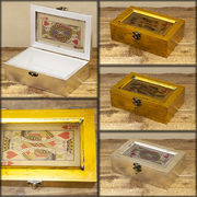 【SALE/値下げ】ジャック、クイーン、キングをモチーフ★トランプ レクトボックス♪【JQK Wood Box】