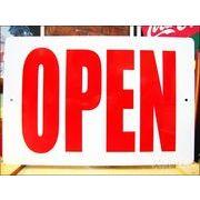文字看板 OPEN/オープン (大サイズ) 太文字