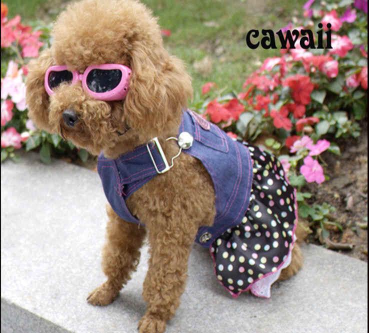 ★即納★キュート犬服♪ デニムワンピースドッグウェア 犬 ペット ペット用品(S-XL)