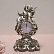 クラシック調エンゼル置時計 シルバー