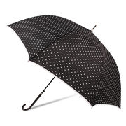 [60cm]傘 婦人傘 ジャンプ傘 レディース 水玉 ドット柄 パイピング