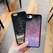 iphone7ケース ラメ キラキラiPhoneXケース 流れるアップル対応ケース