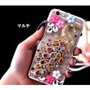 iPhone7 ケース デコケース スマホケース ピーコック