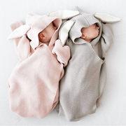 新登場!!★新型スタイル★可愛い ウサギ ニット寝袋★ベビー用寝袋★オールインワン