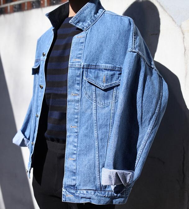 メンズデニムジャケット ゆったりシルエットデニムジャケット