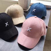 ▼30%OFF▼【オシャレ感満載】シンプルデザイン♪ X刺繍入りカラーキャップ(帽子)