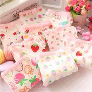 Mサイズ  キュートないちごがたくさん♪ イチゴ&花柄プリント 乙女ショーツ