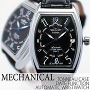 自動巻き腕時計 ATW035 トノーケース 日付カレンダー 日付表示 機械式腕時計 メンズ腕時計