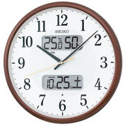 SEIKO セイコー 掛け時計 電波 アナログ カレンダー・温度・湿度 KX383B