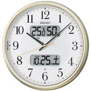 SEIKO セイコー 掛け時計 自動点灯 電波 アナログ カレンダー 温度 湿度 KX384S
