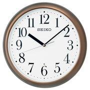 SEIKO セイコー 掛け時計 電波 アナログ 茶メタリック KX218B