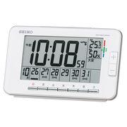 SEIKO セイコー 目覚まし時計 電波 デジタル アラーム 温度 湿度 SQ774W