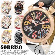 正規品SORRISOソリッソ 上部リューズのビッグケースにイタリアンデザイン SRF9L メンズ腕時計