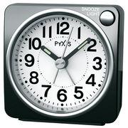 SEIKO セイコー 目覚まし時計 アナログ PYXIS (ピクシス) 黒メタリック NR437K
