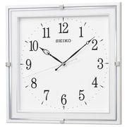 SEIKO セイコー 掛け時計 電波 アナログ 四角 角型 プラスチック枠 白 KX232W
