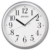 SEIKO セイコー 掛け時計 電波 アナログ 銀色メタリック KX218S