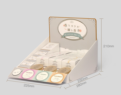【什器セット】nobLED candle Bijou ソリッドパフューム(練り香水) 香水系3種(現品テスター付) 日本製