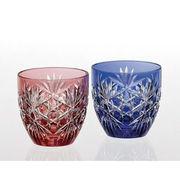 (テーブルウェア)カガミクリスタル 江戸切子 ペア冷酒杯〈六角籠目 紋〉 TPS735-2706AB