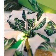 《即納》サテンリボン 25ミリ幅×9メートル 包装用 手芸用 インテリア 柄 葉 緑 白 おしゃれ ハンドメイド