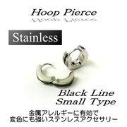 ステンレス★フープピアス(ブラックライン小)★SK-Trade