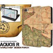 <アクオスR用>AQUOS R SH-03J/SHV39/605SH用ワールドデザイン手帳型ケース