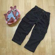【冬物特価】あったか裏起毛♪ベビーカーゴパンツ 両サイドポケット付き 80・90・95cm