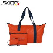 フランスブランド SKIMP ボストンバッグ スポーツ 旅行 防水 30代 40代 オレンジ (橙色)