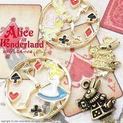 "★L&A Original Parts★人気アリスシリーズ★カラーチャーム★煌めく★K16GP★ ""Alice clock"""