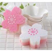 ●【桜コレクション】可憐な桜の花びらがキッチンスポンジに。。!●さくらキッチンスポンジ・2コセット●