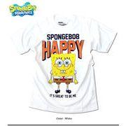 ★可愛いだけじゃなくカッコイイ!★人気キャラクター「スポンジボブ」のストリートTシャツ(HAPPY)★