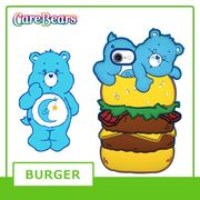 【Care Bears】 [iPhone8対応] iPhone7 6s 6 3Dシリコンケース (HAMBURGER)
