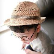 こども 男の子 UVカット 麦わらハット 帽 キッズ ハット KIDS HAT 紫外線対策 春夏